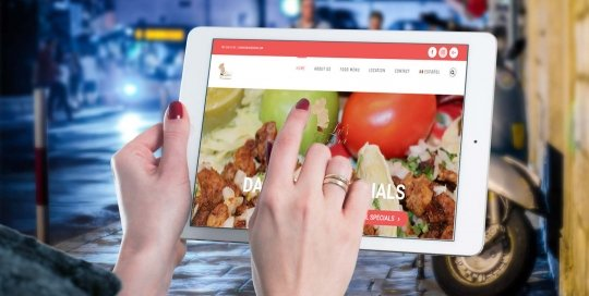 Luis Cocina tablet website