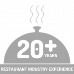 20+ years of restaurant experience icon