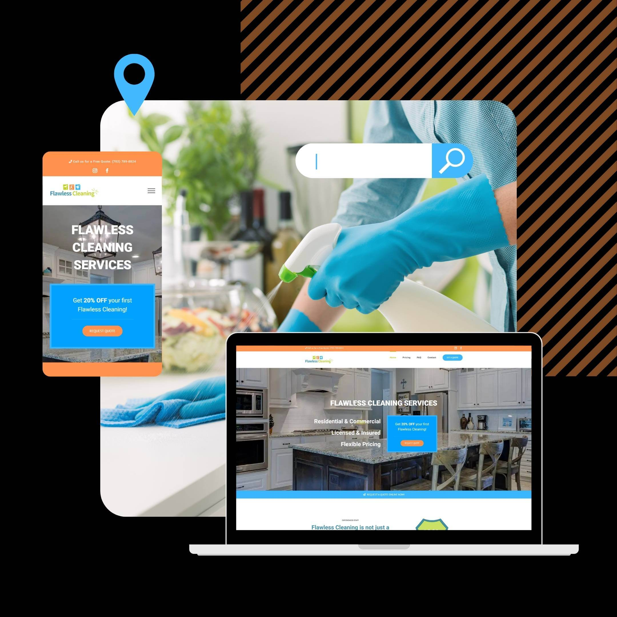 Website graphic - Cleaning Services Sample